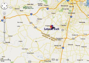Map of Leipers Fork