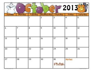 CalendarOct2013byjudybonzer